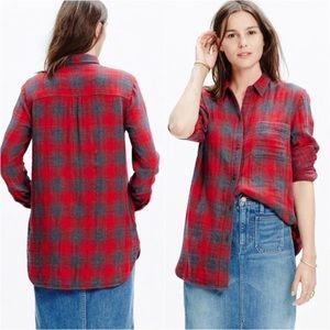 Madewell Ex-Boyfriend Flannel Shirt Lansing Plaid